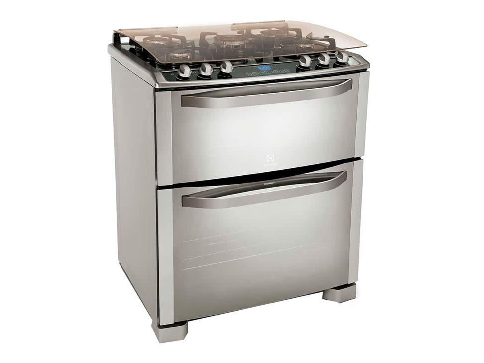 Estufa gas doble horno termocontrol cocina acero - Estufa camping gas ...