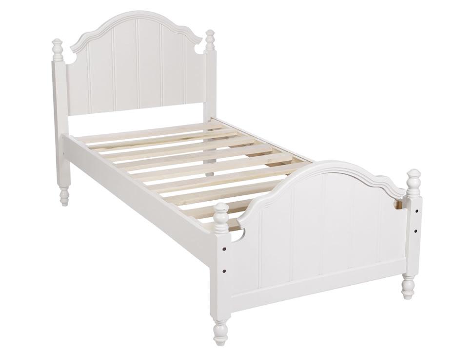 Carol cama individual cl sica blanca for Cama individual blanca