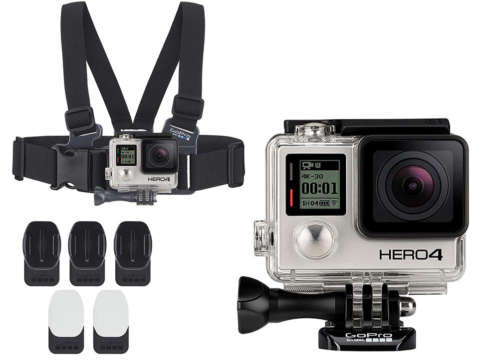 VideoCámara Black Hero 4 GoPro con arnes para pecho niño y ...